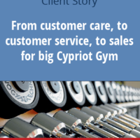 From customer care, to customer service, to sales for one of the biggest Gyms in Cyprus