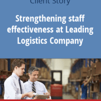 Strengthening staff effectiveness in Leading Logistics Company