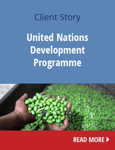 UN development program - client stories - Conicon