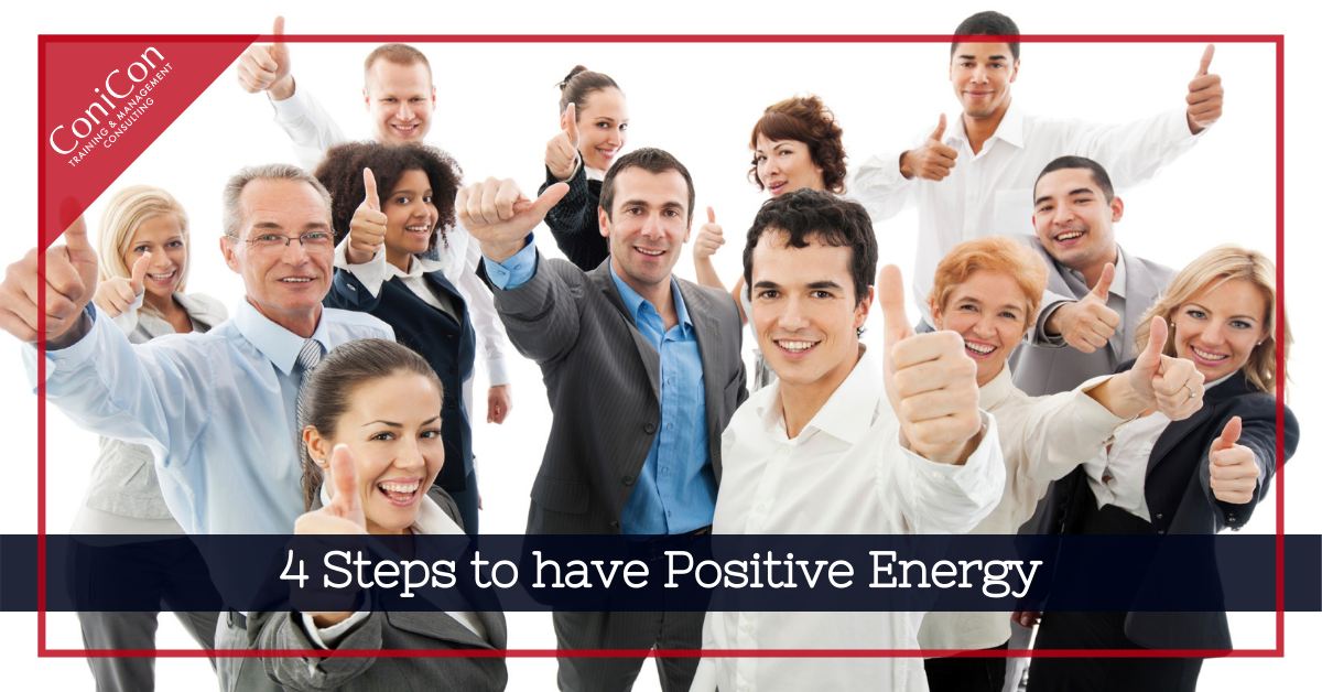4 steps to have positive energy