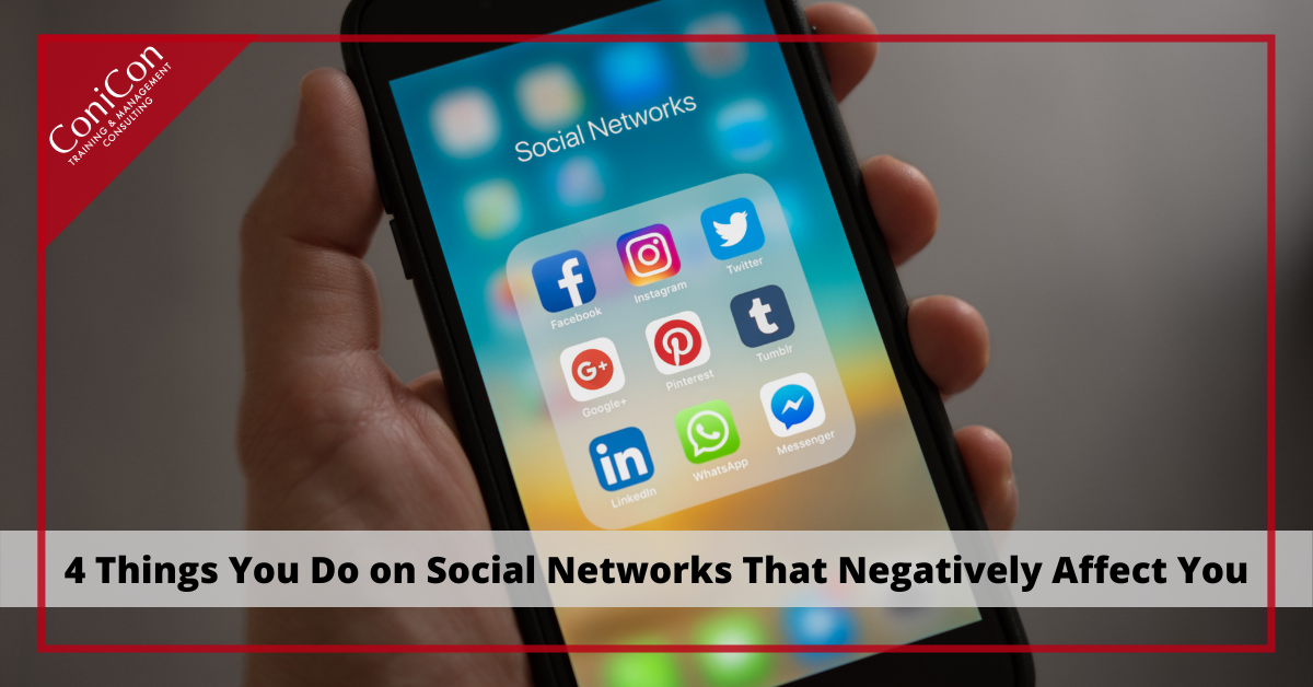 4 mistakes on social networks